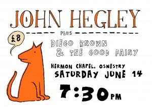 John Hegley ticket white